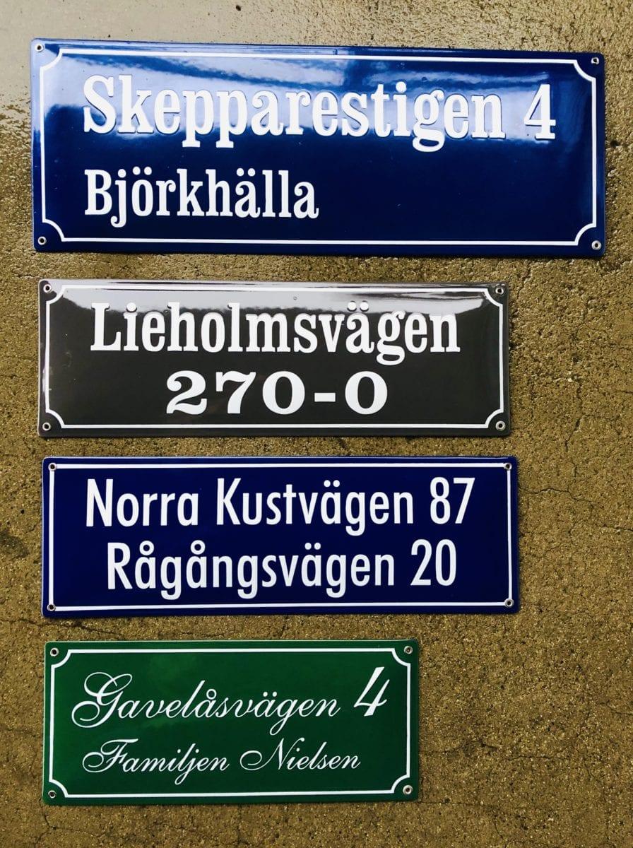 Skillinge Emaljskylt - Kvartersskyltar i webshopens standardstorlekar