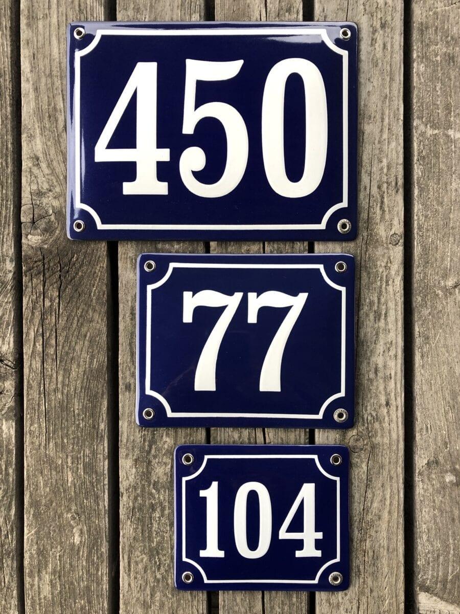 Skillinge Emalj - emaljskylt husnummer olika mått
