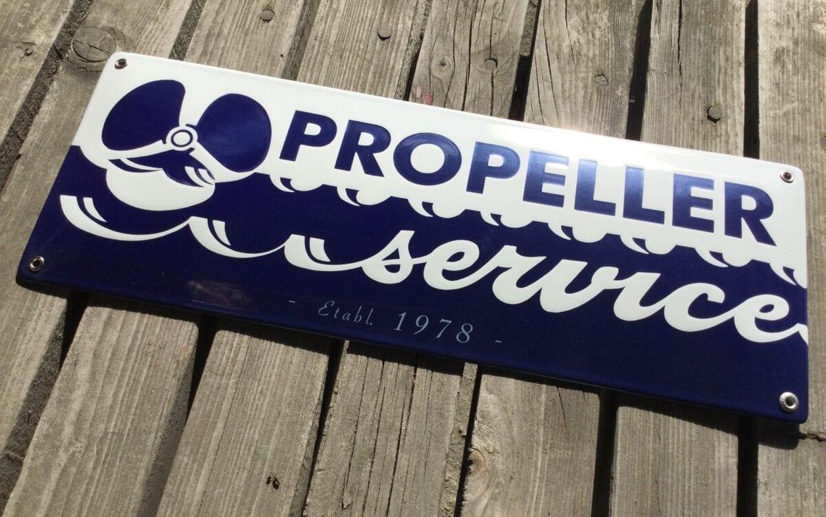 Företagsskylt-Propellerservice